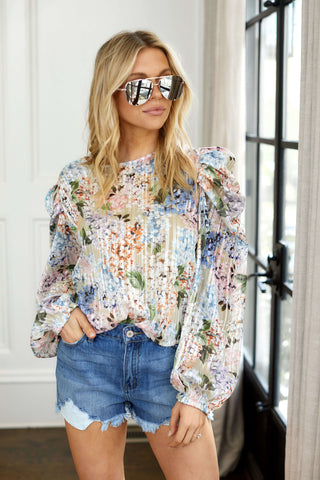 PreOrder Aliza Floral Print Blouse