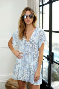 PreOrder Posie Short Sleeve Printed Dress