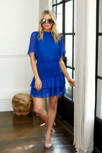 Load image into Gallery viewer, SALE - Holly Short Sleeve Smocked Waist Dress