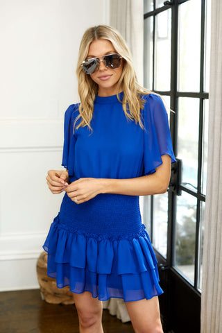 PreOrder Holly Short Sleeve Smocked Waist Dress