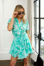 Load image into Gallery viewer, Monroe Palm Print Mini Dress