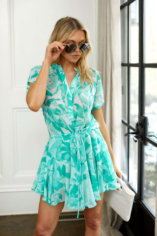 PreOrder Monroe Palm Print Mini Dress