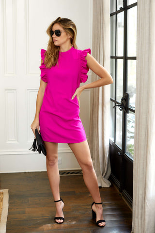 PreOrder Stella Ruffle Sleeve Mini Dress