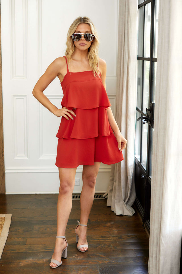 Caroline Tiered Mini Dress