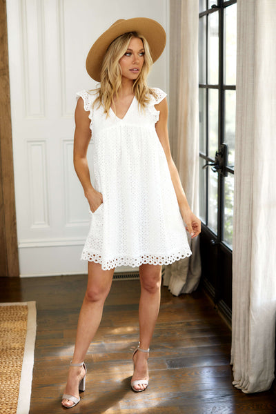 fab'rik - Baker Eyelet Mini Dress image thumbnail