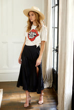 Load image into Gallery viewer, Dallas Floral Slit Midi Skirt