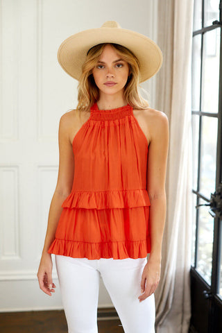 Calla Sleeveless Tiered Blouse