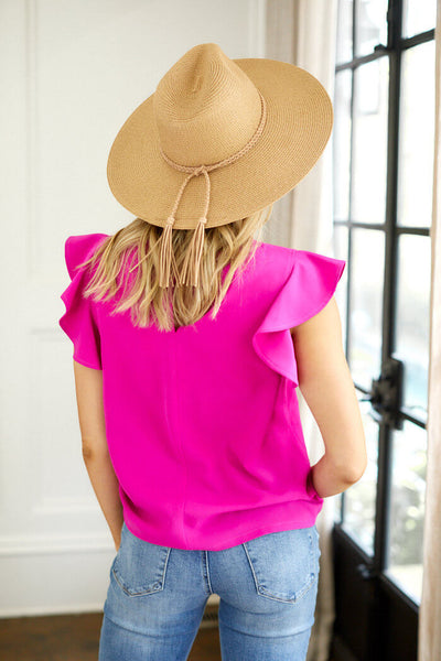 fab'rik - Willow Short Sleeve Solid Blouse image thumbnail