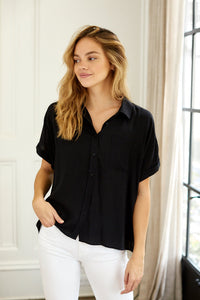 Riley Short Sleeve Button Down Top