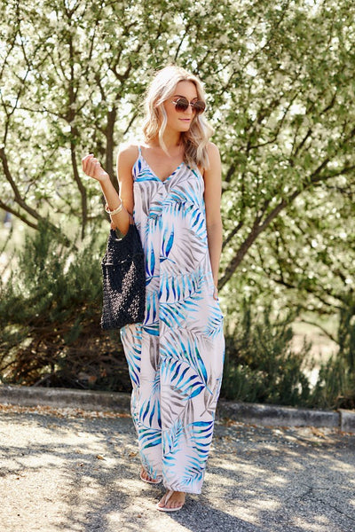fab'rik - Karlee Tropical Cocoon Maxi Dress image thumbnail