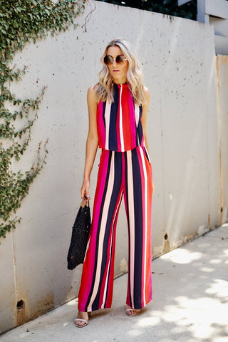 PreOrder Liliana Striped Jumpsuit