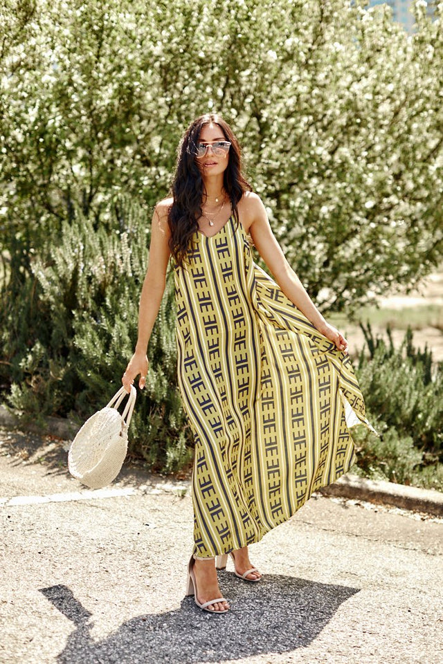 Avery Printed Maxi Dress