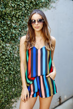 Load image into Gallery viewer, Mona Multi Colored Striped Shorts