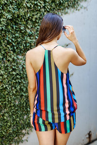 Mona Multi Colored Striped Shorts