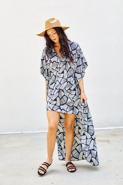 fab'rik - Emily Printed Swim Cover Up image thumbnail