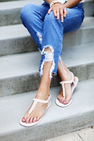 Calis Studded Silicone Sandals