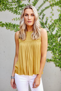 Sandy Pleated Blouse