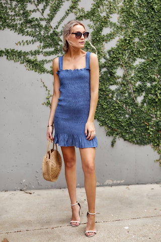 PreOrder Lizzie Smocked Chambray Dress