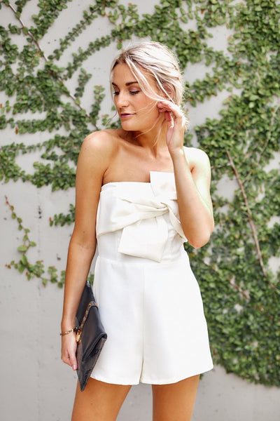 fab'rik - Candace Bow Front Romper image thumbnail