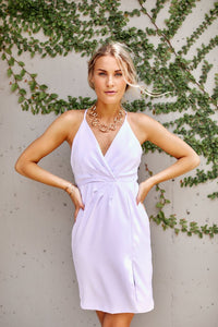 Stella Pleated Front Cocktail Dress