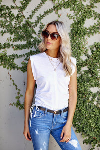 Oliver Lace Up Tee