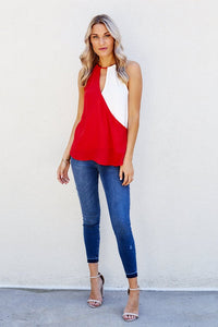 Ruby Color Block Tank