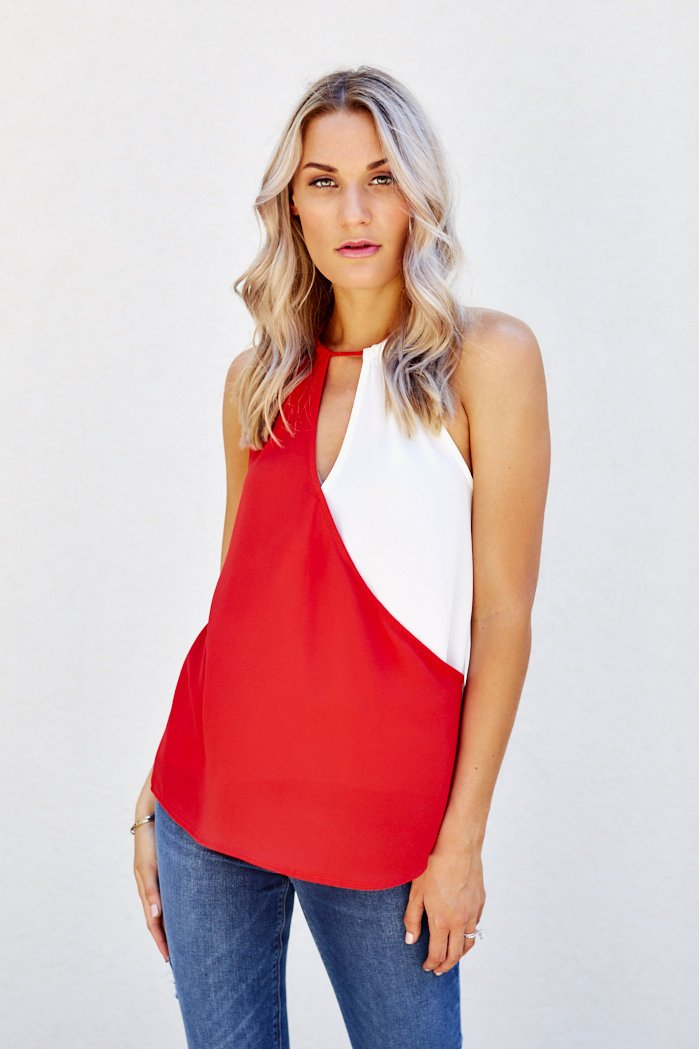 fab'rik - Ruby Color Block Tank ProductImage-7912081457210