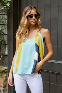 Abstract Color Print Cami