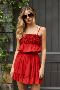 PreOrder Summer Ruffle Detail Sleeveless Dress