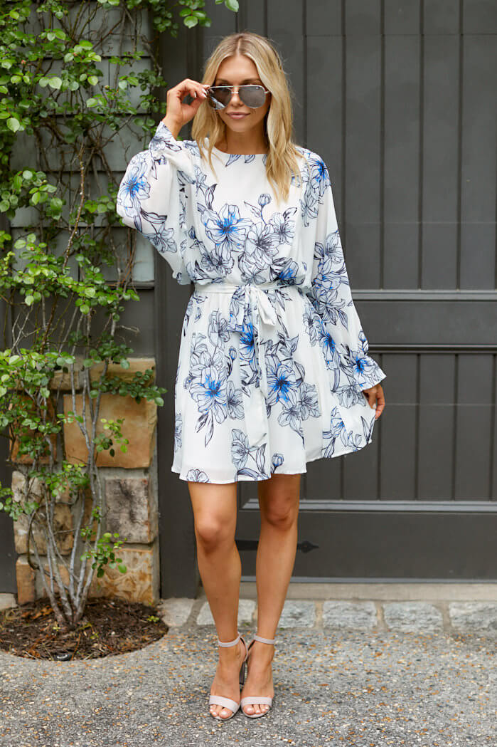 fab'rik - Savannah Floral Long Sleeve Mini Dress ProductImage-13814348677178