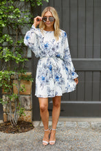 Load image into Gallery viewer, SALE - Savannah Floral Long Sleeve Mini Dress