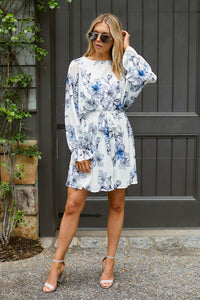 SALE - Savannah Floral Long Sleeve Mini Dress