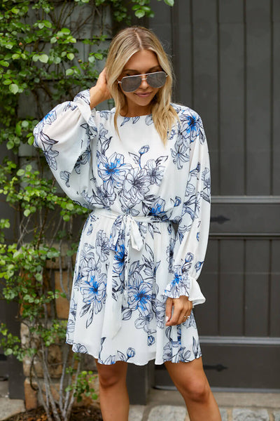 fab'rik - Savannah Floral Long Sleeve Mini Dress image thumbnail