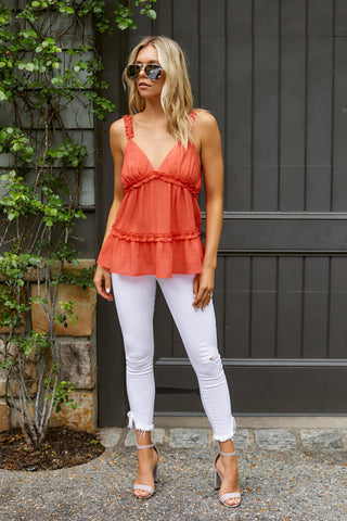 PreOrder Emilia Sleeveless Ruffle Top