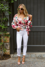Load image into Gallery viewer, SALE - Mila Floral Printed Wrap Blouse
