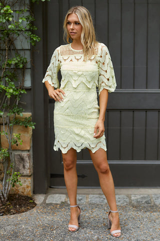 Molly Crochet Detail Mini Dress