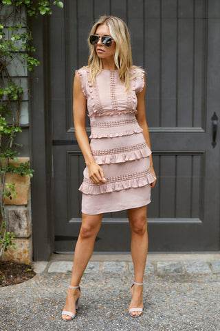Emersyn Ruffle Detail Mini Dress
