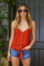 Load image into Gallery viewer, SALE - Josie Tie Front Top