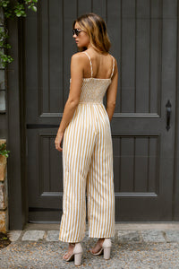 SALE - Tori Sleeveless Tie Front Jumpsuit