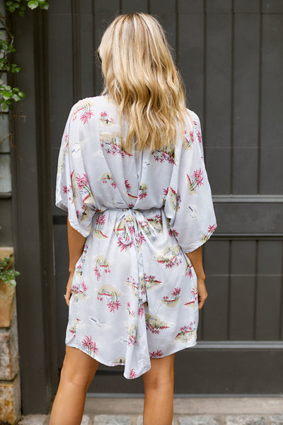 fab'rik - August Printed V Neck Dress image thumbnail