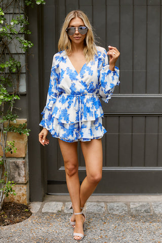 Barcelona Floral Ruffle Detail Romper