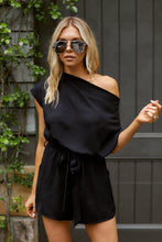 Load image into Gallery viewer, SALE - Ellisyn Short Sleeve Cowl Neck Romper
