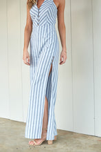 Load image into Gallery viewer, ADELLA STRIPE HALTER JUMPSUIT