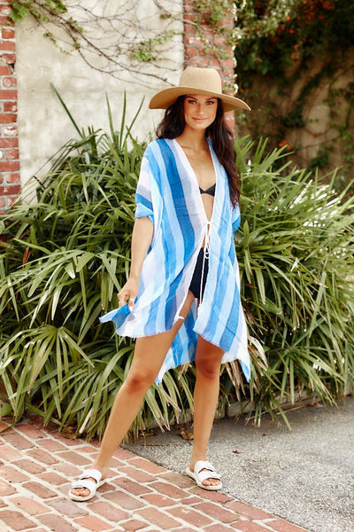 fab'rik - Stripe Swim Cover Up image thumbnail