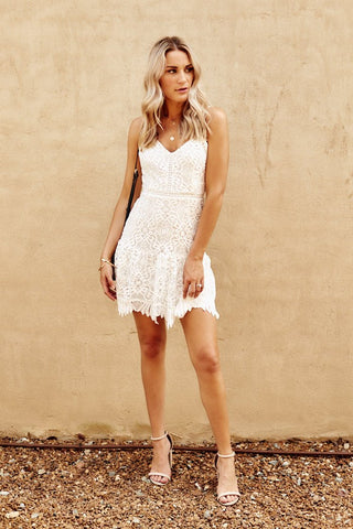 BB Dakota Party Has Arrived Lace Mini Dress