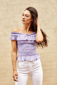 Fletch Carla Smocked Tube Top