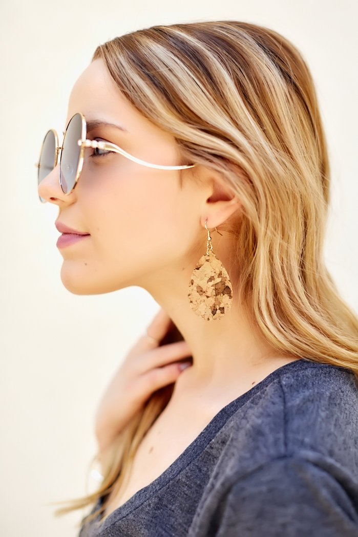 fab'rik - Pattern Cork Teardrop Earrings ProductImage-7959962746938