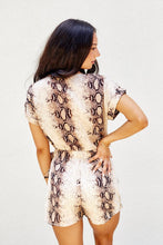 Load image into Gallery viewer, Savannah Snakeskin Wrap Romper