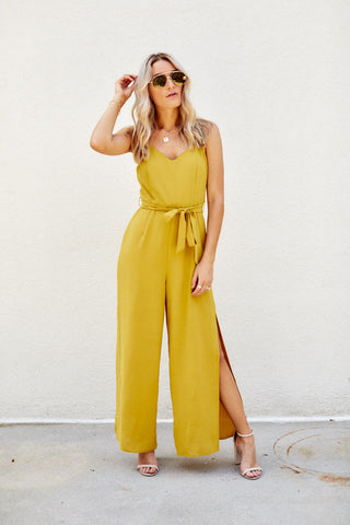 Denise Leg Slit Jumpsuit