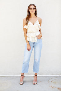 PreOrder Juliette Ruffle Sleeveless Blouse